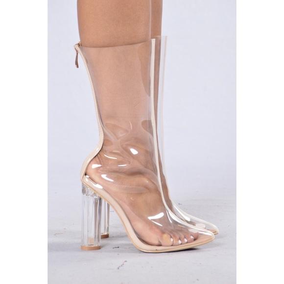 88668ffbc67 Fashion Nova Clear Boots NWT